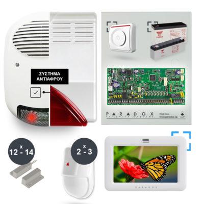 Συναγερμός σπιτιού Paradox SP6000 με touch screen πληκτρολόγιο TM50